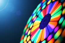 Colorful Spinning Wheel Blur Background