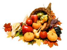 Harvest Or Thanksgiving Cornucopia