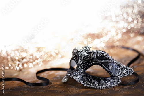 Spoed Foto op Canvas Carnaval carnival mask with glitter