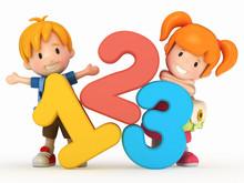 3D Render Of School Kids With ...