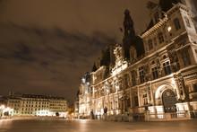 Paris - Hotel De Ville In The Night - Town-hall