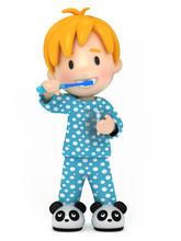 3D Render Of A Kid Brushing Hi...