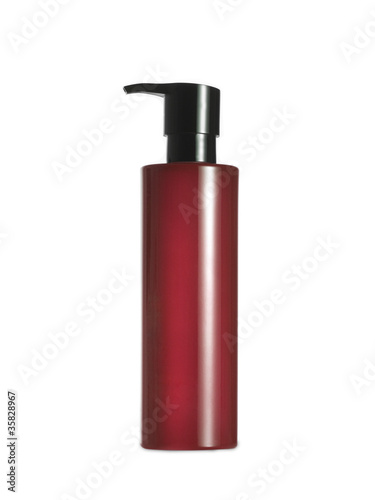 red spray, isolated on white