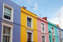 Notting Hill Houses In The Famous Portobello Road Market.