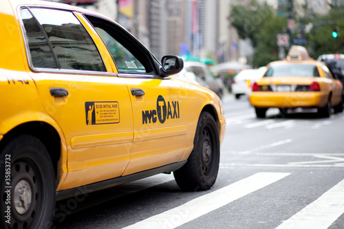 Staande foto New York TAXI NY Taxi