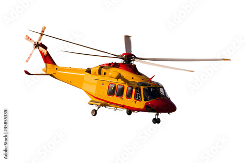 Tuinposter Helicopter AB-139 fondo bianco