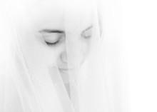 Portrait Of Shy Bride