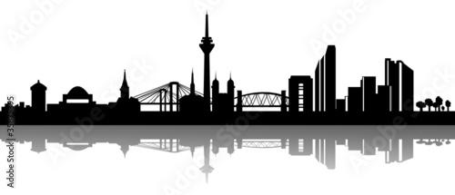 Garden Poster Brown Skyline Düsseldorf