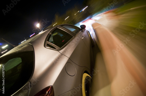 Fotobehang Snelle auto s Car driving fast