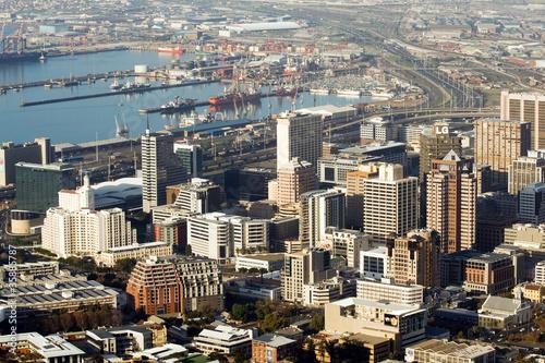 Poster Afrique du Sud Cape Town City and Habor