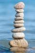 Steinturm im Wasser
