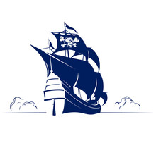 Pirate Retro Ship With Skull A...