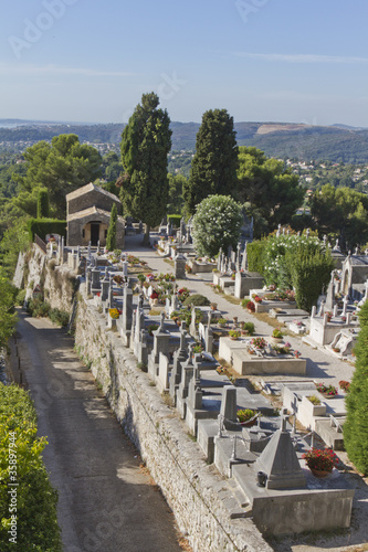 The cemetery in the village of Saint-Paul de Vence, France Canvas Print