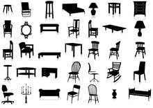 Furniture Silhouette Vector Il...