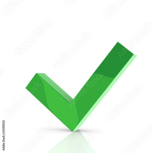 Obraz na plátně check list sign