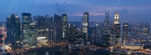 Fotografia, Obraz  Singapore bei Nacht
