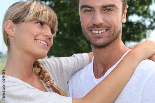 Fotografie, Obraz  girl looking fondly at boyfriend