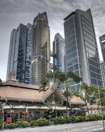Fotografia, Obraz  Skyscraper Singapore