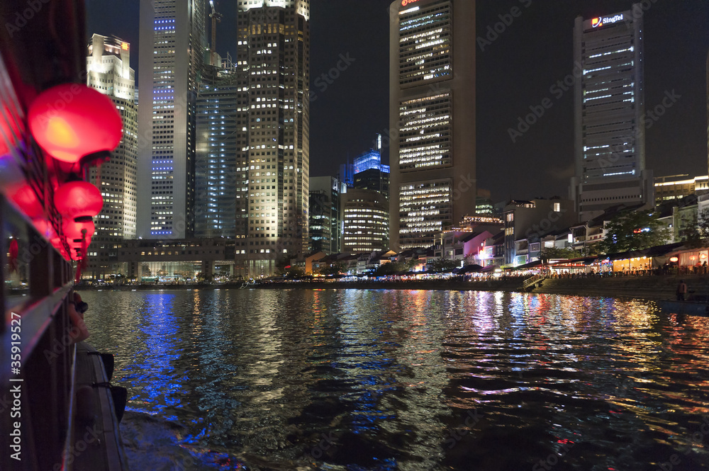 Photo  Night at Singapore River