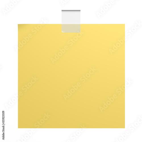 Fotografie, Tablou  post -it isolato su sfondo bianco