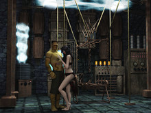 Halloween Couple In Mad Scientist Lab