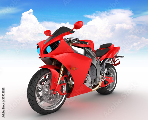 Poster Motocyclette Motorbike prototype