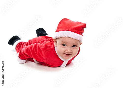 Image De Bebe En Pere Noel.Bebe Deguise En Pere Noel Buy This Stock Photo And Explore