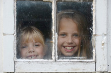 Peeking In Barn Window