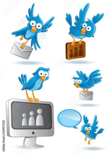 Social Network Blue Bird #35957538