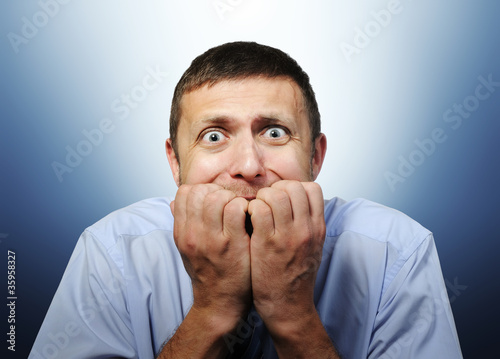 Photo  Deep fear of businessman