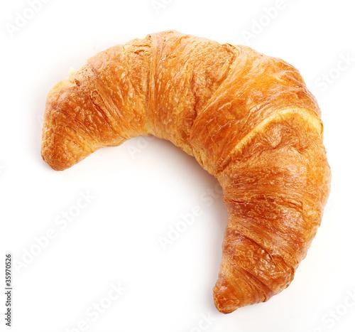 Fotografie, Obraz  Croissant over white background