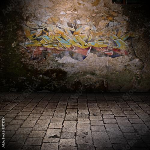 Foto op Canvas Graffiti mur grunge - graffiti