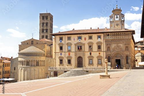 Arezzo main square Canvas Print