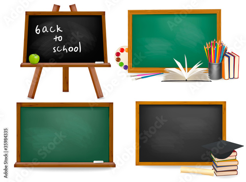 Fotografia Set of school blackboards. Vector.
