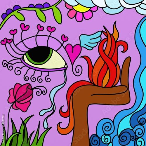 Staande foto Klassieke abstractie abstract eye