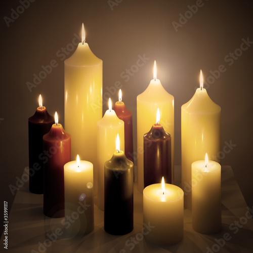 Doppelrollo mit Motiv - Kerzen (von Claudia Paulussen)