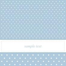 Sweet Blue Polka Dots Card Or ...