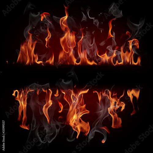Poster Flamme Fire frame