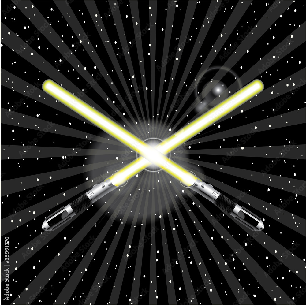 Photo  Vector Lightsaber