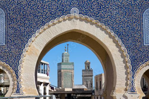 Papiers peints Maroc Medina Gate in Fes