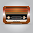 Leinwanddruck Bild Beautiful Retro Radio