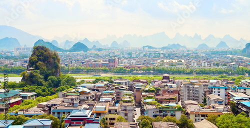 Tuinposter Guilin Guilin city view