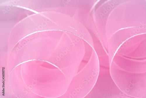 Fotografie, Obraz artistic background from pink chiffon ribbon