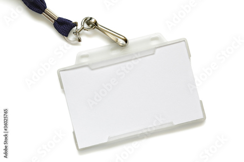 Name tag on lanyard Tableau sur Toile