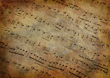 Musical Score With Texture Grunge