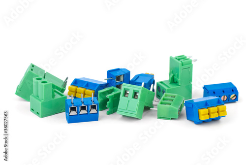 Photo  Different electrical connector blocks
