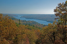 Gatineau Hills And River In Fall