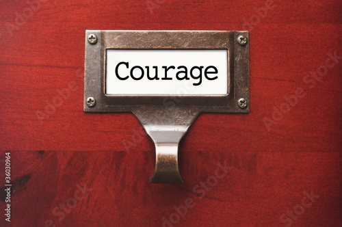 Fotografie, Obraz  Lustrous Wooden Cabinet with Courage File Label