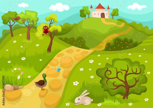 Garden Poster Forest animals card
