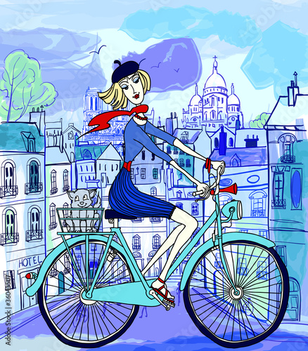 Recess Fitting Illustration Paris Paris in watercolor style